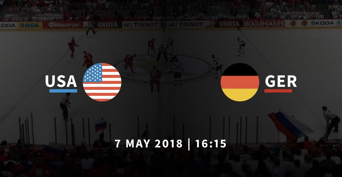 США - Германия ЧМ по хоккею