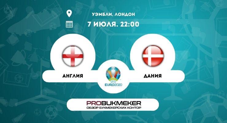 Англия – Дания ЕВРО-2020