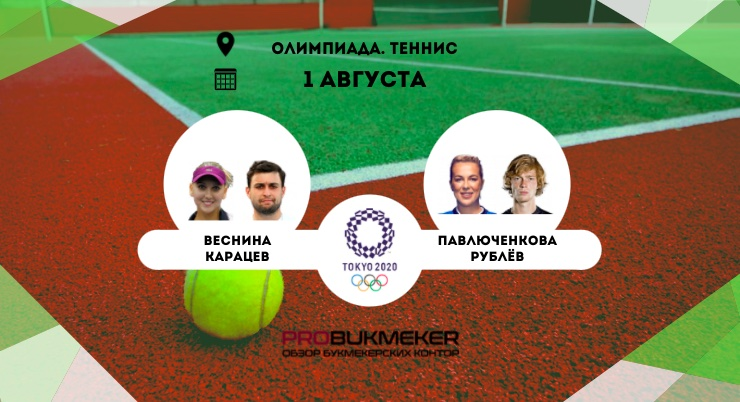Веснина / Карацев – Павлюченкова / Рублёв